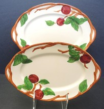 """Two Vintage Franciscan Apple Pattern Platters - 12 1/2"""" and 14 1/4"""" - $30.39"""