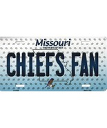 Chiefs Missouri State Background Metal License Plate Tag (Chiefs Fan) - $11.35