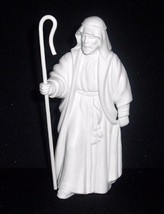 Avon Nativity White Porcelain Collectible SHEPHERD W/Staff Figure  - $9.99