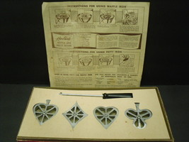 Vintage Handi Hostess Kit Rosette / Timbale Waffle Cookie Molds - Bridge... - $10.80