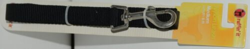Ruffin It 31466 Nylon Leash Black Medium Length 6 Feet Nylon