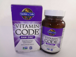 Garden Of Life Vitamin Code Raw Zinc 60 Vegan Capsules {VS-G} - $19.64