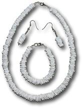 Native Treasure - 4pc Set, White Rose Clam Shells, Puka Shell (16.7 Inches) - $24.09
