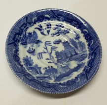 Vintage MARUTA China Saucer Blue & White Occupied Japan - $19.30