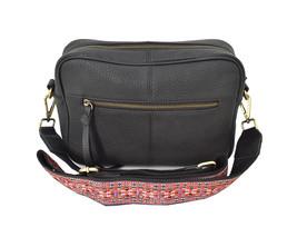 Women's Leather Handbag Embroidered Tribal Pattern Strap Shoulder Purse image 2