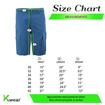 Men's Multi Pocket Casual Stretch Cotton Cargo Dress Shorts With Woven Belt image 2