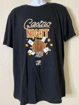 Anvil Men Size L Black Casino Night Home Depot T Shirt  - $14.85