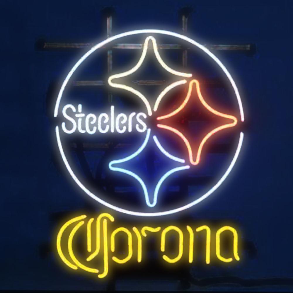 "New Pittsburgh Steelers Corona Extra Beer Neon Sign 24""x20"""