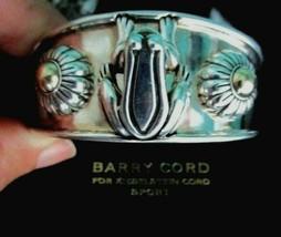 Barry Kieselstein Cord Frog & Flowers Cuff Bracelet Sterling & 14K Gold ... - $395.96