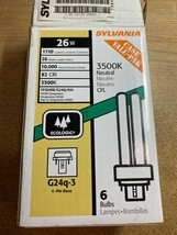 Lot Of 5 Sylvania 26W CFL 4-pin G24q-3 Base Bulb 2-Tubes 3500k Neutral - $25.00