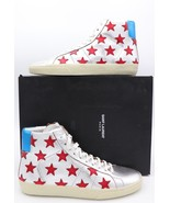 YSL Saint Laurent SL/06M Signature California Stars Metallic Mid Top Sne... - $425.00