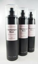 (6) Bath & Body Works Champagne Rose Black Pink Fragrance Spray Mist 8oz New - $66.29