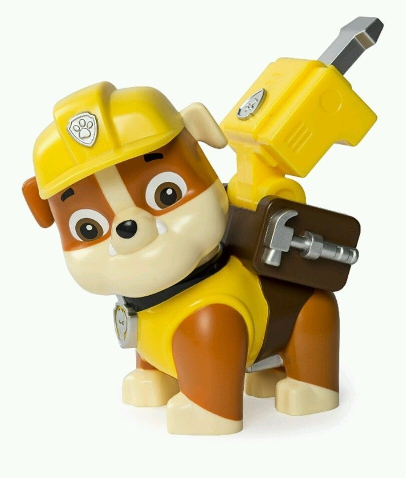 Paw Patrol Jumbo Action Pup Rubble Construction Digger Toy Bull Dog Kids Rescue