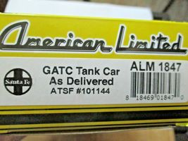 American Limited # 1847 Santa Fe GATC Tank Car As Delivered #101144 HO Scale image 4
