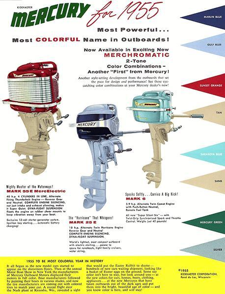 Primary image for 1955 Mercury Marine Outboards - Promotional Advertising Poster