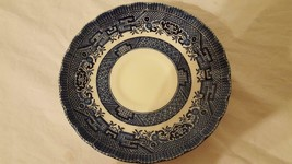 "WESSEX COLLECTION BLUE WILLOW SAUCER PLATE 5.5"" ENGLAND REPLACEMENT NO C... - $4.94"