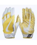 NIKE Mens Vapor Jet 4 Skill Players White Yellow Silver Football Gloves ... - $34.99