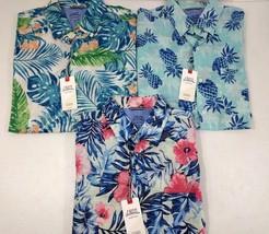 IZOD Saltwater Dockside Chambray Shirt Lot of 3 Hawaiian Men Size Medium... - $72.51