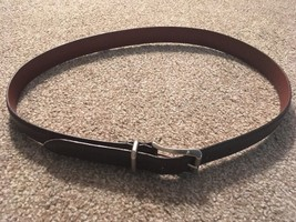 """Vintage Coach Mens 38"""" Brown Belt Handcrafted Natural Glove-Tanned Cowhide - $36.99"""