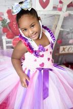 Valentines Day Tutu, Pink Valentines Day Hearts Tutu, Cupid Tutu Dress - $40.00+