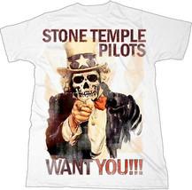 Stone Temple Pilots-Want You Skull-X-Large White T-shirt - $17.41