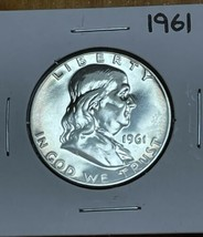 1961 Franklin Silver Half Dollar Proof Toned - $24.75