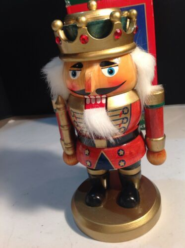 "Primary image for Kurt Adler 9"" Wooden Hand Crafted Nutcracker King"