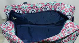 Viv Lou M440VLMIA Mia Tile Travel Bag Lime Green Pink and Navy Blue image 4