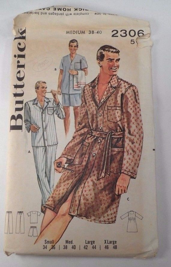 1950 Butterick Sewing Pattern 2306 Men\'s and 50 similar items