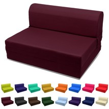 "NEW! Sleeper Chair Folding Foam Bed 70""x23""x5"" Burgundy US - ₨10,440.44 INR"