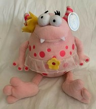 "Koala Baby 14"" Pink Monster w/Crown & TuTu Stuffed Animal Plush Toy Spots NWT - $26.99"