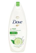 Dove Body Wash Go Fresh Cucumber & Green Tea Nutrium Moisture Sulfate Fr... - $13.99