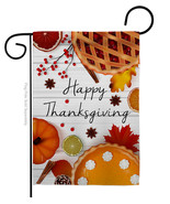 Thanksgiving Pies - Impressions Decorative Garden Flag G163086-BO - $19.97