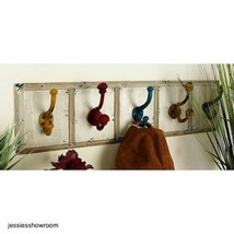 Country Coat Rack Entryway Hallway Mudroom Rustic Farm Decor Style Wood New - $88.81