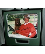 Hand Signed Autograph Of Golfer Sam Snead and his dog Framed COA - $173.25