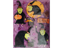 K&Company Glittered Dimensional Halloween Witches Stickers