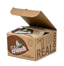 Raw Crunch Bars - Organic Dark Chocolate - Box of 12 Bars - $38.49