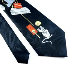 Fratello Necktie Tie Vintage Computer Byte Mouse Black CPU Tower image 3