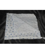 Just one Year Carters White Blue Flannel Baby Boy Blanket Air Plane Helicopter - $19.30