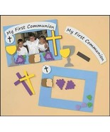 My Holy First Communion Foam Photo Frame with Chalice Arts and Craft Kit - $6.88