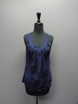SPLENDID Navy Blue V Neck Cami W Thick Straps Size S Cotton Blend SMA1806 - $33.65