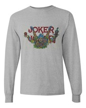 Joker cigarette rolling papers long sleeve t-shirt zig zag JOB marijuana tees image 2