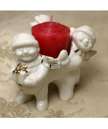 Mikasa Holiday Elegance FK001 Christmas Snowman Tealight Porcelain Candl... - $17.80