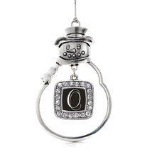 Inspired Silver My Script Initials - Letter O Classic Snowman Holiday Decoration - $14.69