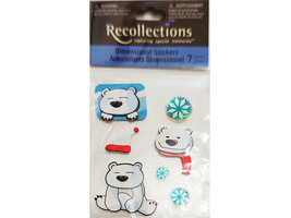 Recollections Dimensional Stickers, Polar Bear and Snowflakes #10460766