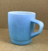 "Anchor Hocking Fire King Blue Milk Glass Stacking Mug 3 1/4"" Tall - $7.80"
