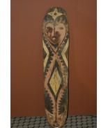 Polychrome Kupkein East Sepik Arrow Deflector Clan War Shield Papua N Gu... - $379.05