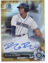 2017 Bowman Chrome Prospects Autographs Gold Refractor #CPA-BB Bryson Br... - $30.00