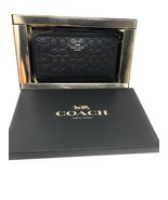 Coach Box Glitter Signature Leather Phone Wallet in Black - $103.95