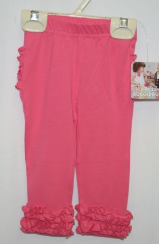 Ruffle Butts SPKCA06 Everyday Candy Ruffles Pants Leggings 6 to 12 Months